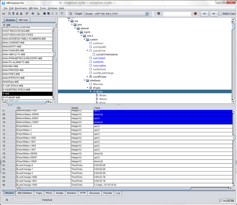 MIB Explorer Screenshot Main Window