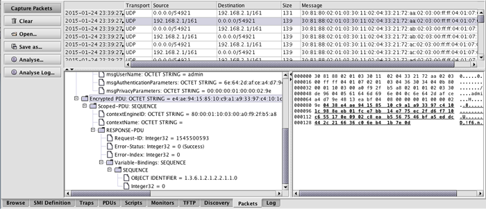MIB Explorer Packet Analyzer